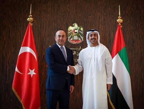 وزير الخارجية الإماراتي يصل تركيا فى زيارة رسمية تستغرق يومين